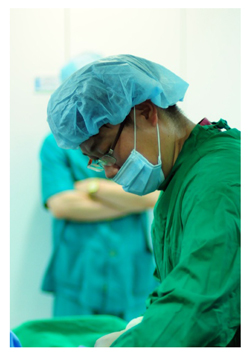 지방흡입 수술중